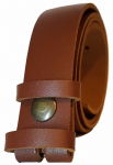 30mm Brown Snap Fit Leather Belt
